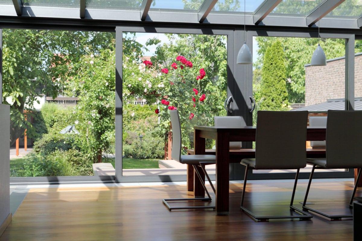 porte coulissante veranda